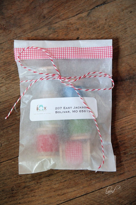 5 3/4 x 7 3/4 Glassine Bags set of 50 || Wedding Favor Bags, Treat Bags, Business Card Envelopes, Candy Bags, Washi tape bags