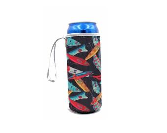 Lures Water Bottle Tall Boy Cooler