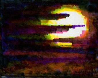 Print Art Instant Download Print Yourself Moonscape Screensaver Scrapbooking Jewlery