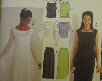PATTERN BUTTERICK 3756 set for wedding skirt and top
