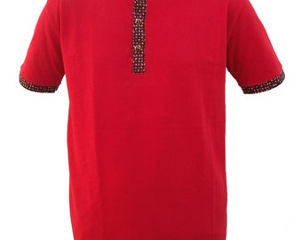 Polo shirt red man.