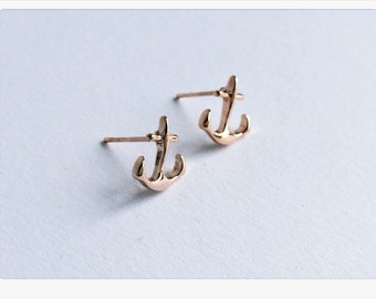 Anchor earrings pink gold. Earplugs, Anchor, Love, rosegold