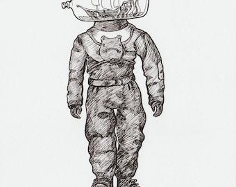 Deep sea Diver (Original art)