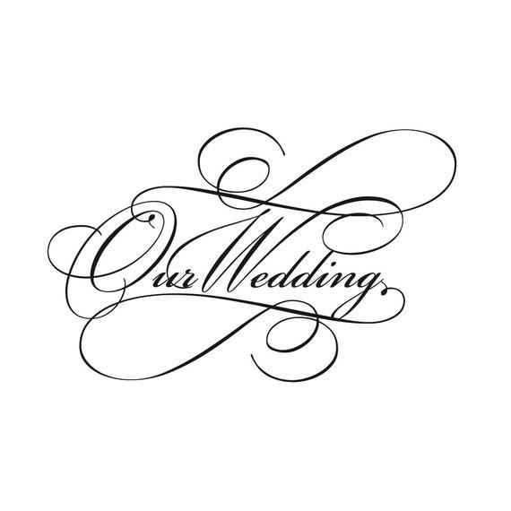 Items similar to Script wedding invitation wording clip
