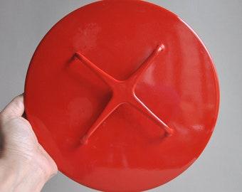 Dansk Red Kobenstyle Enamel Pot Lid - 8 3/4 diameter