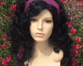 Esmeralda Gypsy Black Curly Wig