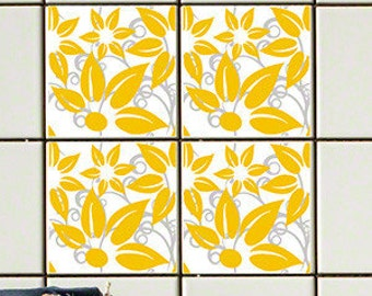 Hibiscus Yellow RETile Decal - Clear Background