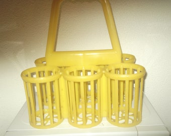 vintage plastic bottle holder