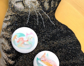 Sleepy Cats Large Button or pocket mirror