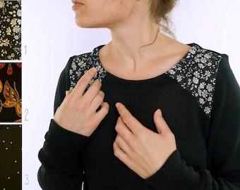black sweater and yoke liberty/Japanese choices