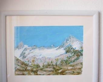 Swiss mountains Breithorn and Cervin, Zermatt - Switzerland art