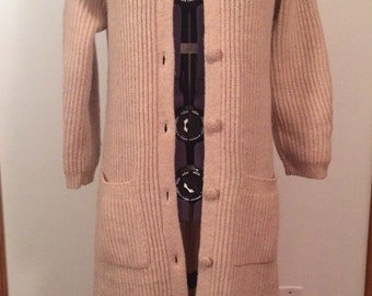 Vintage sweater/jacket with ruffle collar