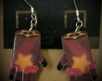 Garnet's Gauntlets earrings, Steven universe earrings