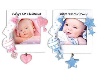 Personalized Baby's 1st Christmas Picture Frame Chistmas Ornament