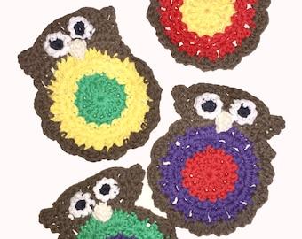 Owl Coasters set of 4