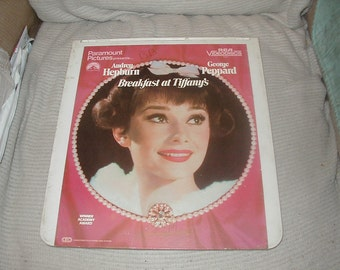 Laser Disc, Breakfast at Tiffany's, Audrey Hepburn, George Peppard, CED