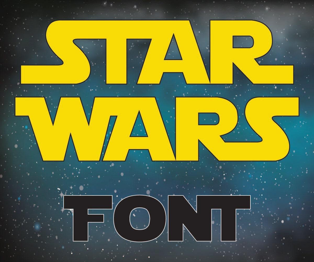 star wars letter font