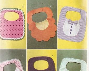 BUTTERICK Sewing Pattern 4533 - Baby Bibs - Six Designs