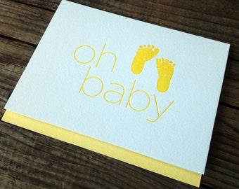 Oh Baby - Congratulations Letterpress Card
