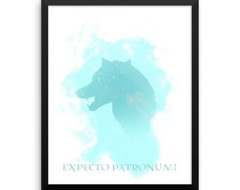 Harry Potter inspired wolf Patronus Digital print 8x10