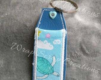 Lip Balm Holder - Sea inspired fabric