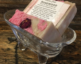 Rosewood ~ Hot Process Soap ~ True to the notes of rosewood essential oil.