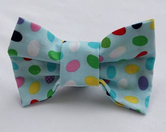 Easter Bow Tie- Dog Collar Bow Tie- Pet Accessory- Pet Supplies-Pastel Easter Eggs- Collar Attachment