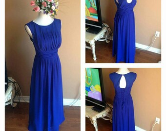 Royal Blue bridesmaid dress, long chiffon bridesmaid dresses, maxi chiffon dress, elegant long dresses