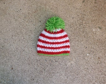 Christmas Beanie, Christmas Hat, Baby Christmas Hat, Baby Christmas Beanie, Neutral Baby Hat, Photography Prop