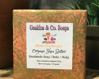 White Tea Ginger Natural Handcrafted Soap | Made With Organic Shea Butter & Olive Oil