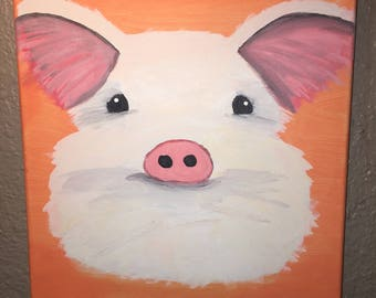 Piglet Canvas Painting