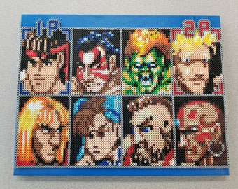Street Fighter 2 Player Select Perler Beads/Pixel Art