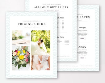 Photography Pricing Template - Marketing Set - Pricing Guide Templates - Photographer Price List - Wedding Pricing - INSTANT DOWNLOAD