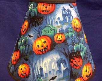 Halloween Tombstones Jack O Lantern Pumpkins Lamp Shade