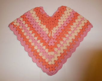 crochet poncho, child poncho, easter poncho, spring poncho