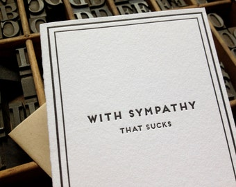 With sympathy, that sucks: Cards for Dudes