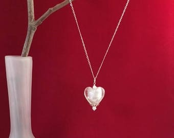 Heart of Ice for a Princess on sterling silver chain