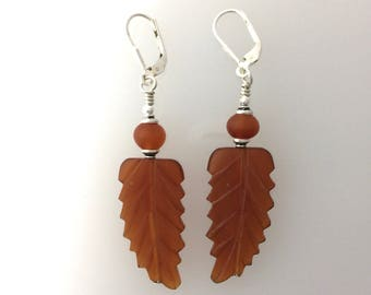 Buffalo Horn Hand Carved Bead Earrings@