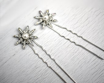 50s retro star hair pins