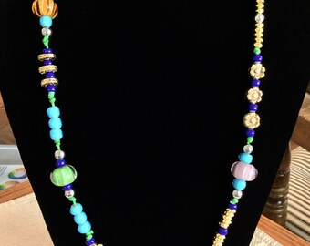 Colorful Knotted Necklace