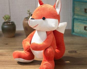 PDF Sewing pattern & tutorial - Stuffed fox   Stuffed Animal   fabric toys   Softies   E-patterns