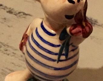 Vintage Scarce Classic Winnie The Pooh Piglet Ceramic Figure