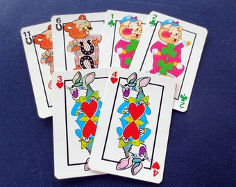 6 Hearts Children's Game Cards - Bunny, Pig, Bear
