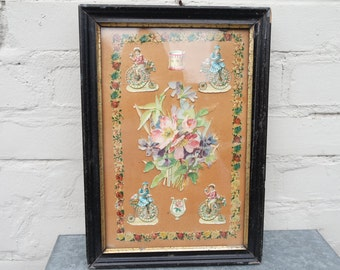 Vintage 30s picture/art composition/chromolithography collage