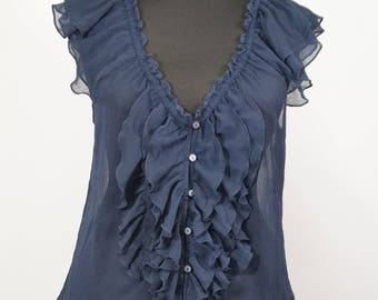 ABERCROMBIE & FITCH Lady's Top Blouse Tank Size L