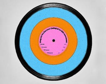 Retro Record Ketubah—Personalized—Printable
