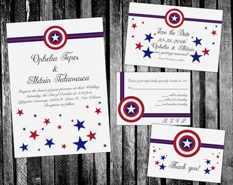 Marvel save the date Etsy