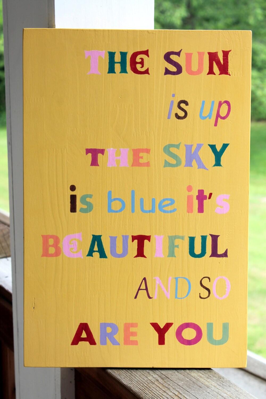 Beatles Quote Wood Sign Nursery Sign Beatles Lyrics Song
