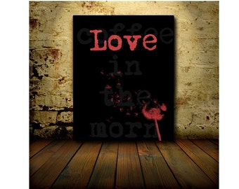 Love Valentines Day Digital Art Print - Instant Downloads - Las minute gift - Dandelion - Red - Gothic - Ballet