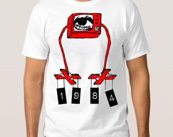 George Orwell 1984 Art T-Shirt, All Sizes